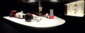 Fernando Alonso en el museo